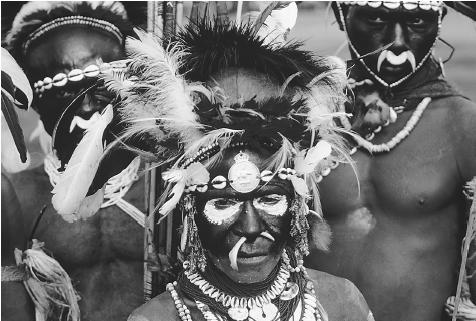 Similar to many tribes in Papua New Guinea, this group of Iwan warriors were once cannibals. While the tyranny of time often hampers these interpretive processes, the very act of attributing cannibalism to a society is now seen as a controversial political statement given modern sensitivities to indigenous peoples and cultures. CHARLES AND JOSETTE LENARS/CORBIS