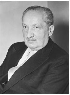 "Martin Heidegger (1889-1976) discussed his existential philosophy of humans as ""beings toward death"" in his seminal work Being and Time (1927). CORBIS"