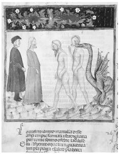 Dante and Virgil are depicted walking in the cold, dark and sterile hell of the Divine Comedy. CORBIS