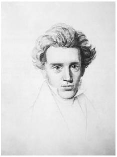 Danish philosopher Søren Kierkegaard (1813-1855) suffered many hardships that made him question the meanings of life and death, such as the death of his mother and five siblings. BETTMANN/CORBIS