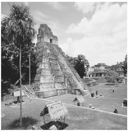 Mayan Temple I is characterized by multiple steps and located at the religious site of Tikal in Guatemala. Aside from the planting and growth of corn, the dawn rising of the sun was another basic metaphor for resurrection and rebirth in the Maya religion. CORBIS