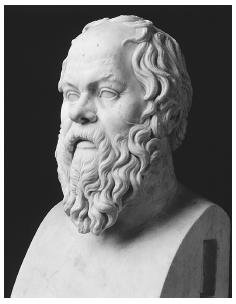 Socrates believed that a teacher should not besiege students with a barrage of words but instead help people to discover and articulate their own hidden knowledge. ARALDO DE LUCA/CORBIS